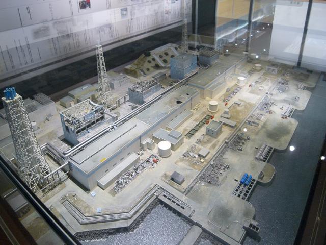 福島第一原発のジオラマ