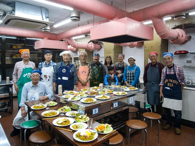 料理研究会の参加者