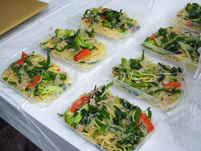 湘南の食材を使ったパスタ