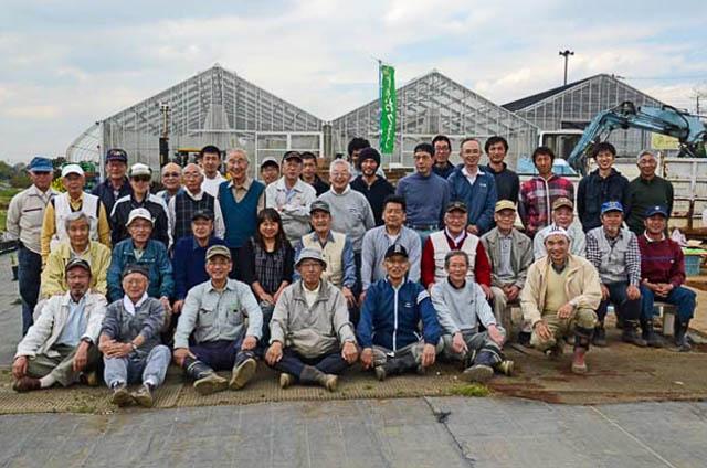永田農園で記念写真