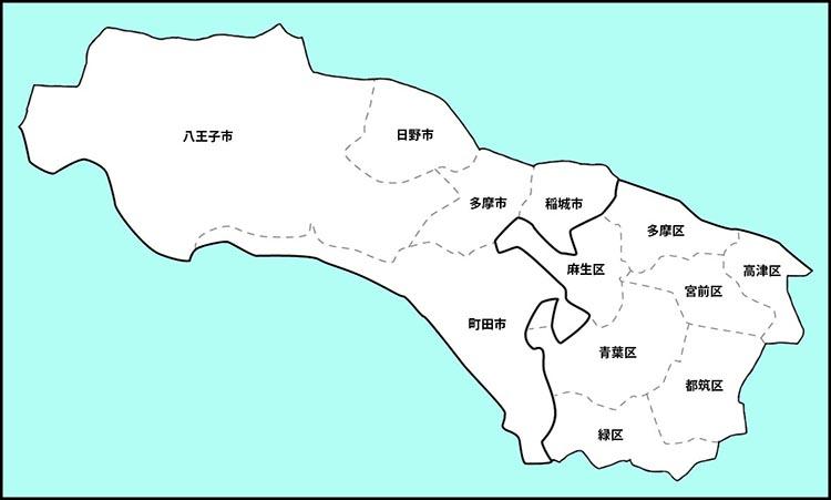 活動エリアの地図